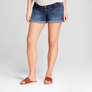 Isabel Maternity Jean Midi Shorts Size 18